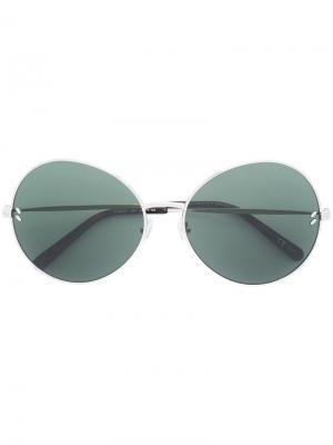 Солнцезащитные очки в круглой оправе Stella McCartney Eyewear. Цвет: золотистый