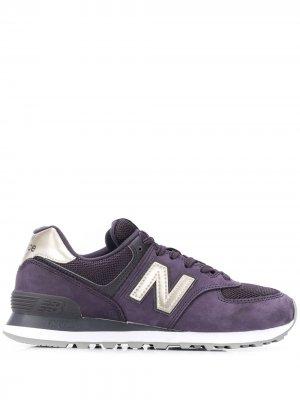 Кроссовки WL 574 New Balance. Цвет: фиолетовый