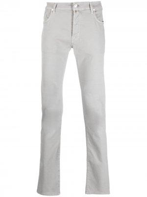 Прямые джинсы средней посадки Jacob Cohen. Цвет: серый
