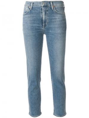 Классические укороченные джинсы Citizens Of Humanity. Цвет: синий