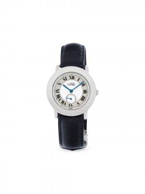 Наручные часы Must pre-owned 33 мм 1993-го года Cartier. Цвет: белый