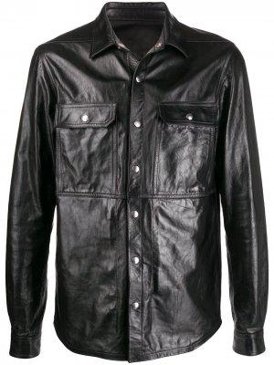Рубашка с нагрудными карманами Rick Owens. Цвет: черный
