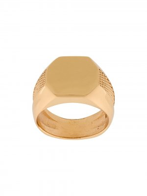 Перстень с тиснением Emanuele Bicocchi. Цвет: золотистый