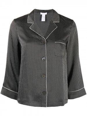 Пижамная рубашка с узором Eres. Цвет: серый