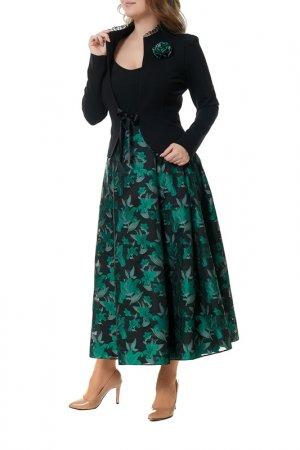 Комплект с юбкой MANNON. Цвет: черный
