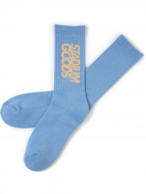 Носки с вышитым логотипом Stadium Goods. Цвет: синий