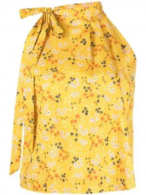 LAutre Chose блузка с вырезом халтер и цветочным принтом L'Autre. Цвет: желтый