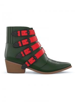 Кастомизируемые ботинки AJ006 Toga Pulla. Цвет: красный