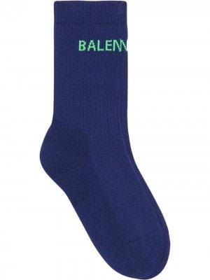 Носки вязки интарсия с логотипом Balenciaga. Цвет: синий