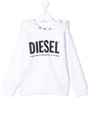 Худи с логотипом Diesel Kids. Цвет: белый