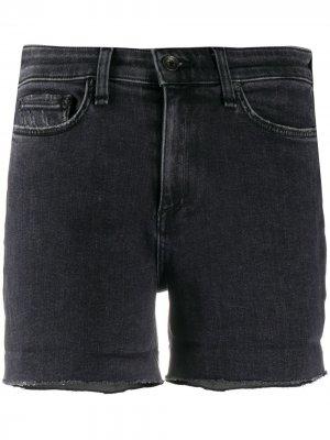 Джинсовые шорты с подворотами Rag & Bone. Цвет: черный