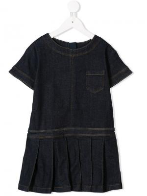 Denim T-shirt dress Molo. Цвет: синий