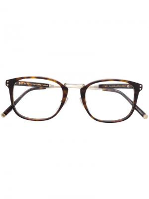 Tortoiseshell-effect square glasses Retrosuperfuture. Цвет: коричневый