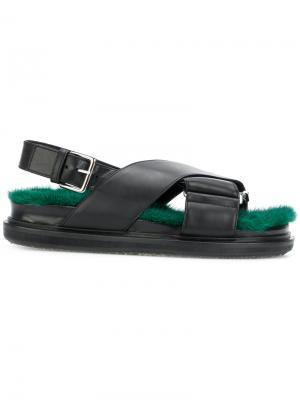 Fussbett sandals Marni. Цвет: чёрный