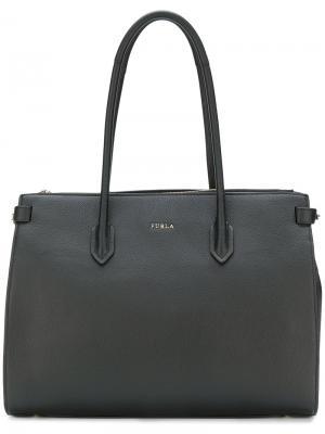 Средняя сумка-тоут Pin Furla. Цвет: черный
