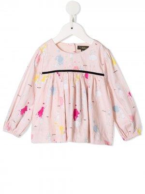 Блузка Antonia Heathers с принтом Velveteen. Цвет: розовый