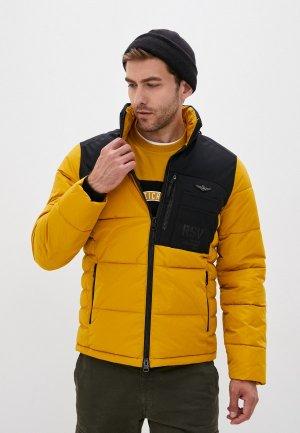 Куртка утепленная Aeronautica Militare. Цвет: желтый