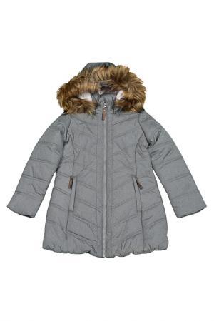 Пальто Luhta. Цвет: серый