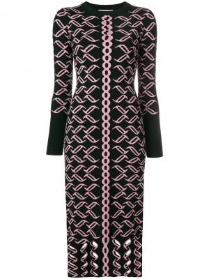 Patterned knit dress Temperley London. Цвет: черный