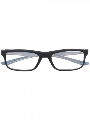 Очки Plank 2 в прямоугольной оправе Oakley. Цвет: черный