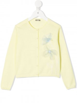 Кардиган с цветочной вышивкой Il Gufo. Цвет: желтый