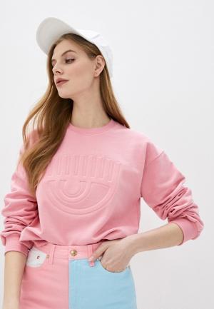 Свитшот Chiara Ferragni Collection. Цвет: розовый