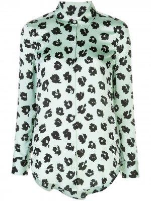 Рубашка с абстрактным принтом Equipment. Цвет: зеленый