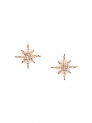 Серьги-гвоздики в форме звезд с жемчужной застежкой APM Monaco. Цвет: розовый