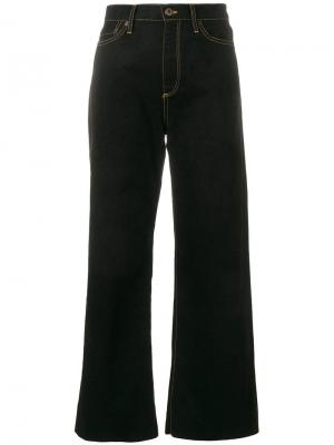 Широкие джинсы с высокой талией Simon Miller. Цвет: черный
