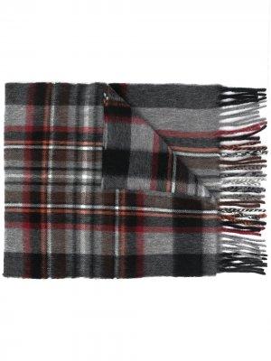 Клетчатый шарф Begg & Co. Цвет: серый