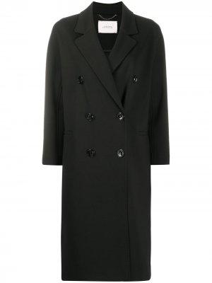 Двубортное пальто средней длины Dorothee Schumacher. Цвет: черный