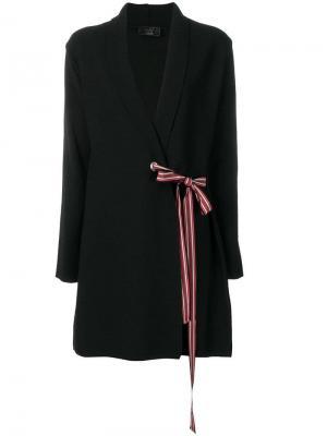 Stripe tied cardigan Ki6. Цвет: черный