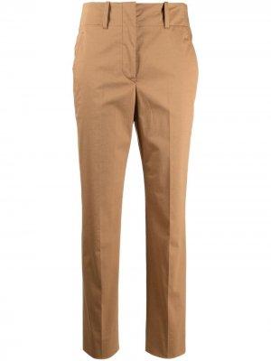Укороченные зауженные брюки Incotex. Цвет: коричневый
