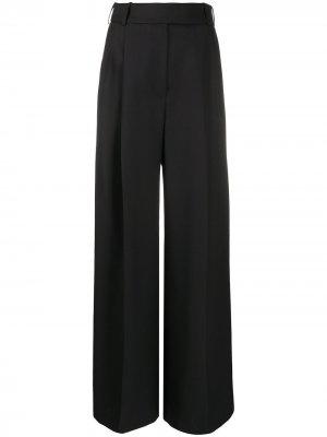 Декорированные брюки широкого кроя Alexandre Vauthier. Цвет: черный