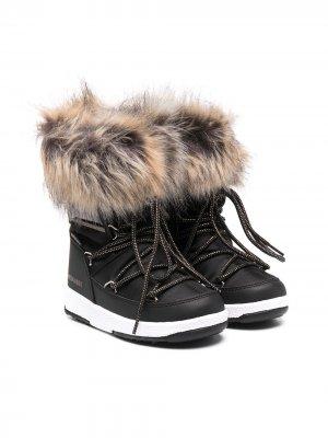 Зимние ботинки Monaco Moon Boot Kids. Цвет: черный