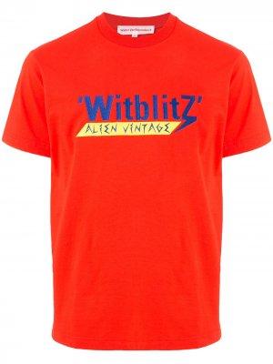 Футболка Witblitz с принтом Walter Van Beirendonck. Цвет: красный