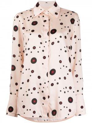 Рубашка Record в горох Victoria Beckham. Цвет: нейтральные цвета