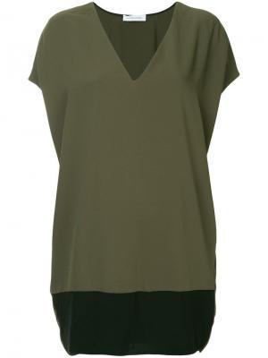 Платье с карманами Costume National. Цвет: зеленый