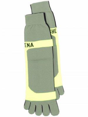 Носки с логотипом Ssheena. Цвет: зеленый