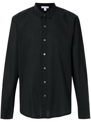 Классическая рубашка James Perse. Цвет: черный
