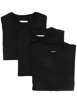 Комплект из трех футболок CK Calvin Klein. Цвет: черный