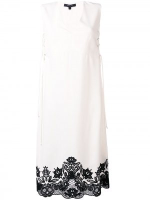 Платье со шнуровкой без рукавов Derek Lam. Цвет: белый