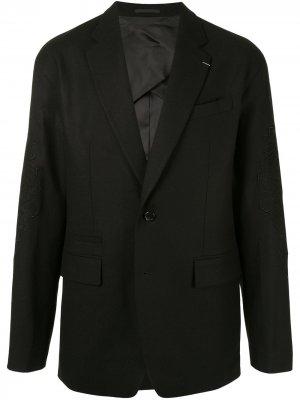 Блейзер с вышивкой SONGZIO. Цвет: черный