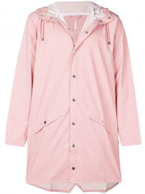 Water-resistant hooded coat Rains. Цвет: розовый