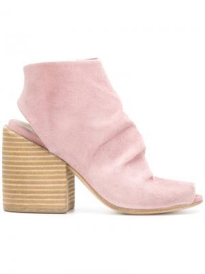 Ботильоны с открытым носком Marsèll. Цвет: розовый и фиолетовый