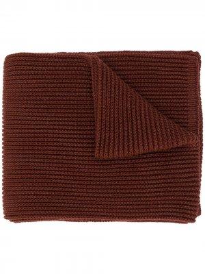 Объемный трикотажный шарф S.N.S. Herning. Цвет: коричневый