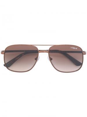 Солнцезащитные очки-авиаторы Vogue Eyewear. Цвет: металлик