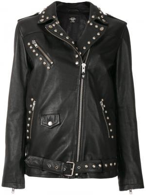 Байкерская куртка с заклепками Htc Los Angeles. Цвет: чёрный