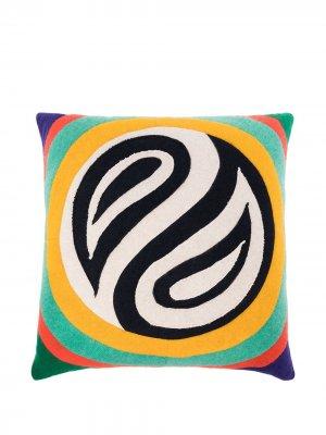 Кашемировая подушка со вставками The Elder Statesman. Цвет: желтый