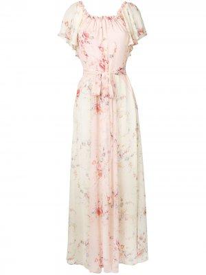 Платье Eveln LoveShackFancy. Цвет: нейтральные цвета